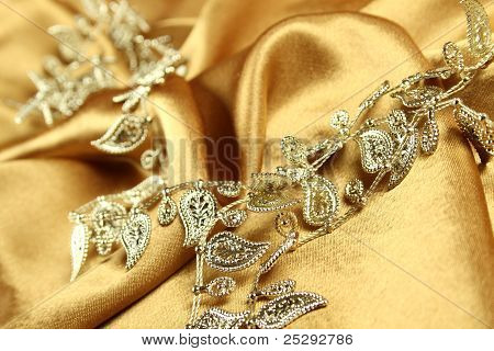 Background of golden fabric