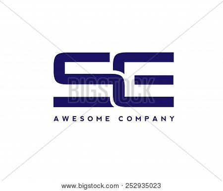 Creative Letter Se Logo Design Elements. Simple Letter S And E Letter Logo,business Corporate Letter