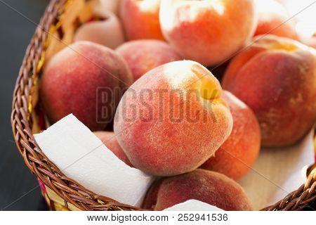 Peach In A Basket