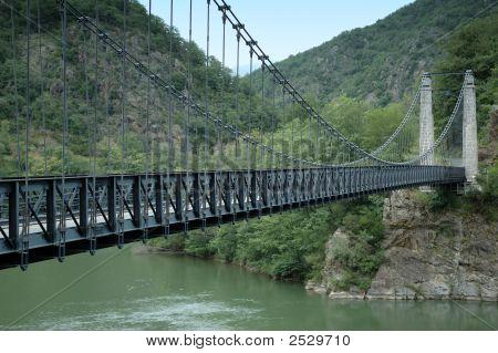 Suspension Bridge On The Tarn River
