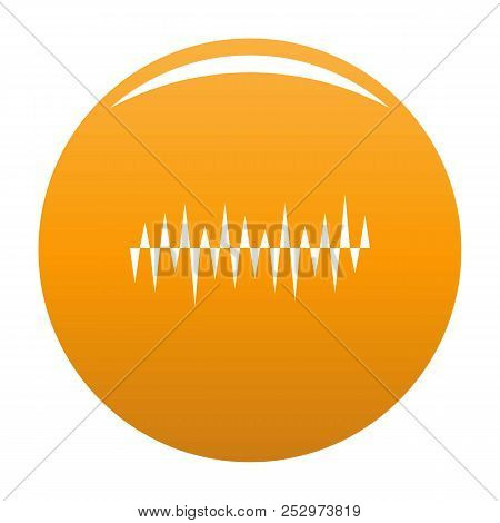 Equalizer Pulse Icon. Simple Illustration Of Equalizer Pulse Icon For Any Design Orange