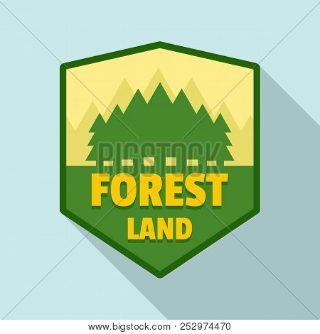 Forest Land Logo. Flat Illustration Of Forest Land Logo For Web Design
