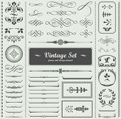 vector set: calligraphic design elements and page decoration poster