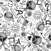 Seamless pattern - Science poster
