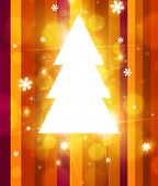 Bright Christmas tree, shine design for holiday background poster