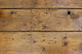 Wooden floorboards show the gold brown patina of age, these boards are over 200 years old poster