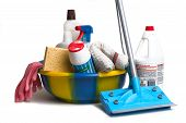 Of products domestic for all to clean together in the house poster