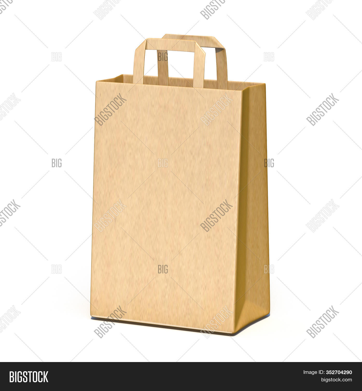 Brown Paper Carry Bag Image Photo Free Trial Bigstock