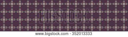 Mid Century Vector Modern Vintage Banner Pattern Background. Flower Masculine Edging Graphic Design.