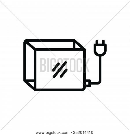 Black Line Icon For Lightbox Voltage Resistance Counteraction Dynamism Forcefulness Omnipotence Dang