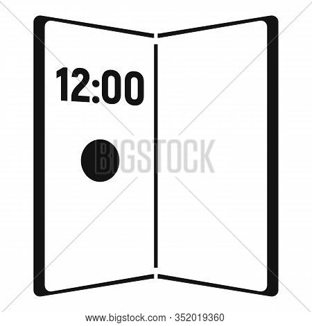 Artificial Foldable Display Icon. Simple Illustration Of Artificial Foldable Display Vector Icon For
