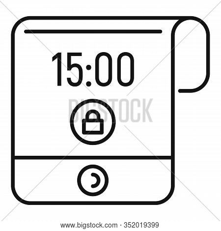 Contemporary Flexible Display Icon. Outline Contemporary Flexible Display Vector Icon For Web Design