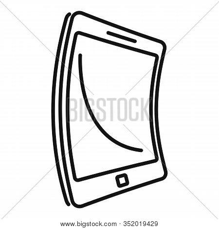 Electronic Flexible Display Icon. Outline Electronic Flexible Display Vector Icon For Web Design Iso