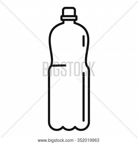 Plastic Carry Bottle Icon. Outline Plastic Carry Bottle Vector Icon For Web Design Isolated On White