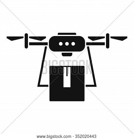 Export Drone Delivery Icon. Simple Illustration Of Export Drone Delivery Vector Icon For Web Design