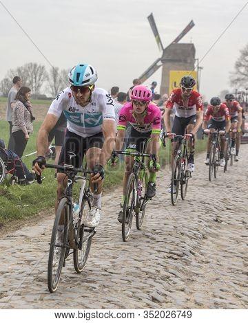 Templeuve-en-pévèle, France - April 08, 2018: The Danish Cyclist Matti Breschel Of Ef Education Firs