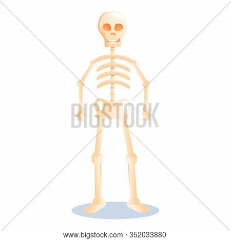 Cute Halloween Skeleton Icon. Cartoon Of Cute Halloween Skeleton Vector Icon For Web Design Isolated