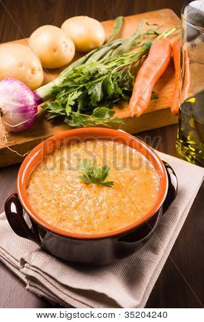 soup with carrots and potatoes