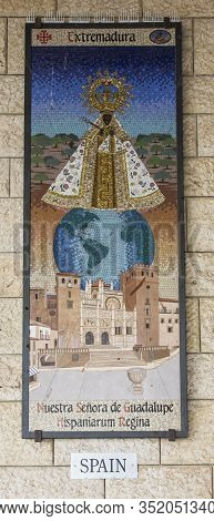 Nazareth, Israel January 26, 2020; A Mosaic Donated By The People Of Spain, One Of The Mosaics Offer