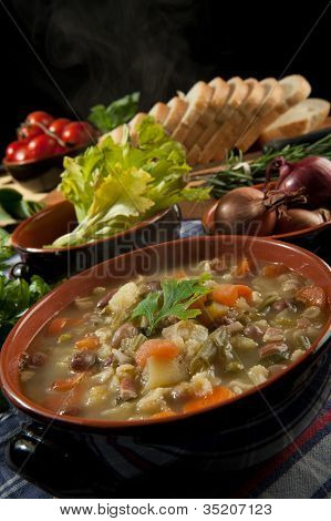 Minestrone - Soup with vegetable