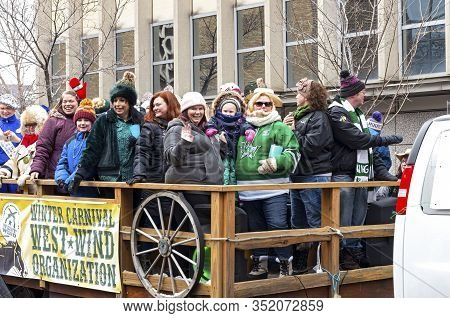 St. Paul, Mn/usa - January 25, 2020: West Wind Organization In Annual Grande Day Parade Of Winter Ca
