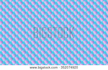 Fish Scale. Watercolor Holographic Kawaii Pattern. Mermaid Squama. Color Vector Illustration. Rainbo