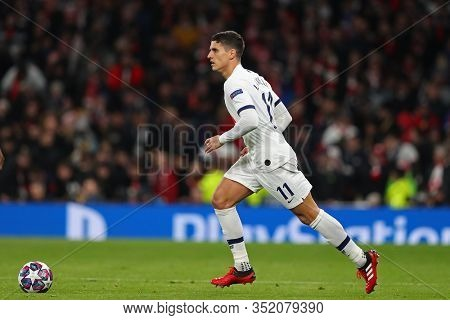 LONDON, ENGLAND. 19 FEBRUARY 2020. Midfielder Erik Lamela of Tottenham during the UEFA Champions League match between Tottenham Hotspur and RB Leipzig, at The Tottenham Hotspur Stadium, London England