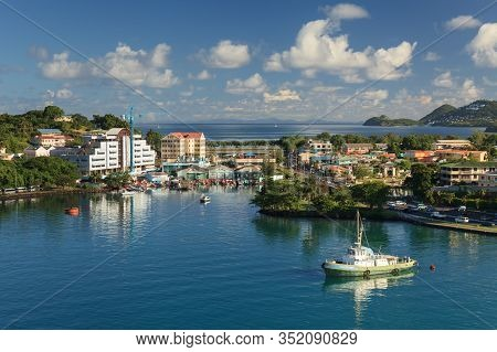 Castries, St Lucia - November 7:  Castries Waterfront Pictured On November 7, 2013.  Castries Is The