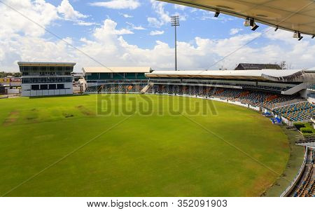 Bridgetown, Barbados - November 9:  Kensington Oval Cricket Ground In Bridgetown, Barbados, Pictured