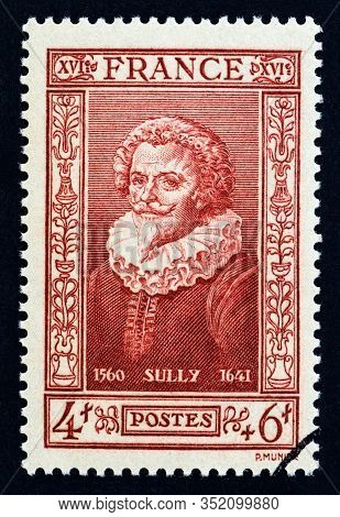 France - Circa 1943: A Stamp Printed In France From The