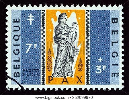 Belgium - Circa 1959: A Stamp Printed In Belgium From The