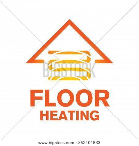 Vector Logo Of Underfloor Heating And Heat