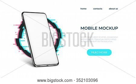 Realistic Smartphone Mockup. Smartphone Frame With Blank Screen. Vector Illustration Realistic Phone