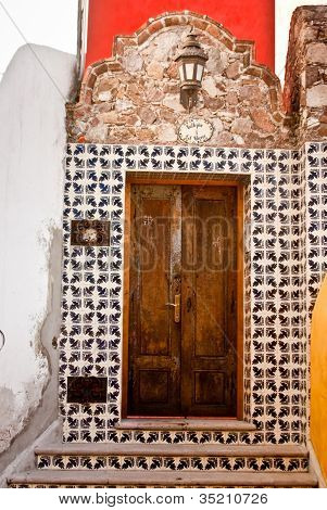 Mexican Tiled Entrance