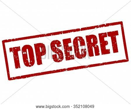 Top Secret Red Vector Rubber Stamp For Your Design.