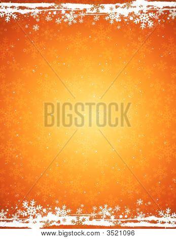 Golden Grunge Christmas Background