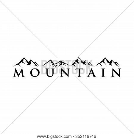 Mountain Tourism And Rock Climbing Icon Set, Mountain Logo, Hills Logo, Mountain Symbol, Mountain Ic