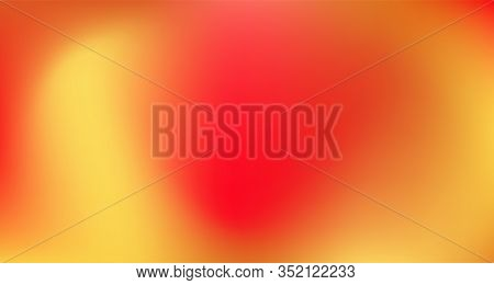 Red Yellow Pink Tropical Gradient Background. Liquid Neon Bright Trendy Wallpaper. Elegant Colorful
