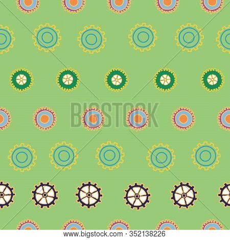 Step Up Gears And Cogs Repeat Pattern Vector Surface Design