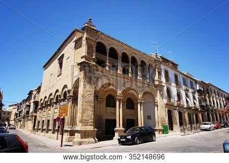 Ubeda, Spain - July 28, 2008 - View Of The Old Town Hall In The Plaza Primero De Mayo, Ubeda, Spain