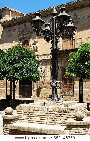 Ubeda, Spain - July 28, 2008 - Ornate Lantern In The Plaza Del Marques De La Rambla, Ubeda, Spain -