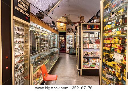 Brighton, England - October 21, 2019: Brighton Toy And Model Museum Is An Toy Museum Situated In Bri