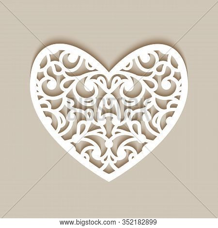 Ornamental Heart With Lace Pattern