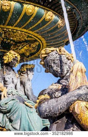 Fountain Of The Seas Detail, Concorde Square, Paris, France