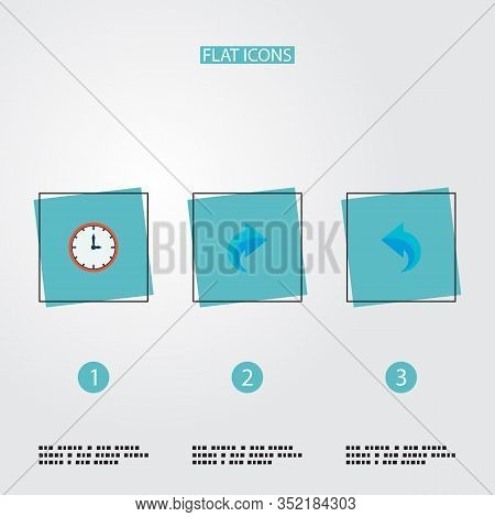 Set Of Task Manager Icons Flat Style Symbols With Time, Redo, Undo And Other Icons For Your Web Mobi