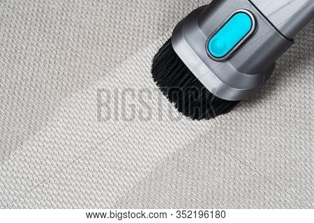 Removing Dirt From Sofa With Upholstery Cleaner. Sofa Chemical Cleaning. Upholstered Furniture Clean