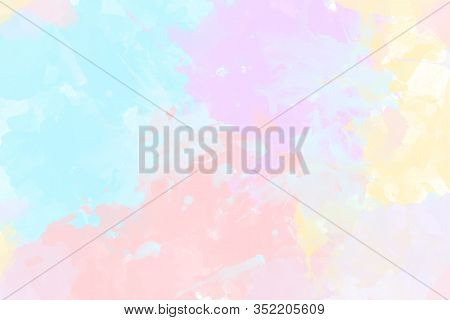 Abstract Colorful Blue, Pink,orange And Yellow Painted Background Illustration