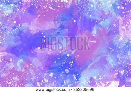 Abstract Colorful Painted For Your Background Illustration