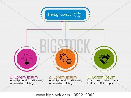 Infographic Vector Design Template For Illustration. Presentation Business Infographic Template With