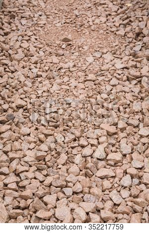 Hardcore Sub Base Or Aggregate Texture Background, Depicting Building Materials Used In The Construc